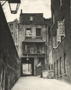 LONDON. Strand Lane and the Entrance to the Roman bath 1926 old vintage print